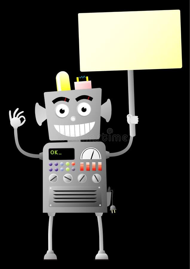 δόσιμο του εντάξει ρομπότ ελεύθερη απεικόνιση δικαιώματος