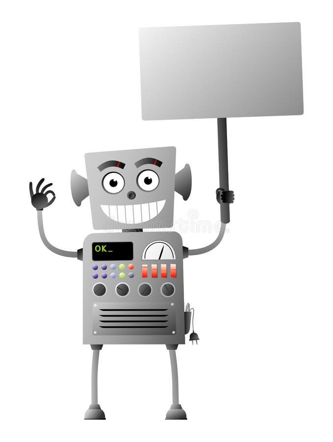 δόσιμο του εντάξει ρομπότ απεικόνιση αποθεμάτων