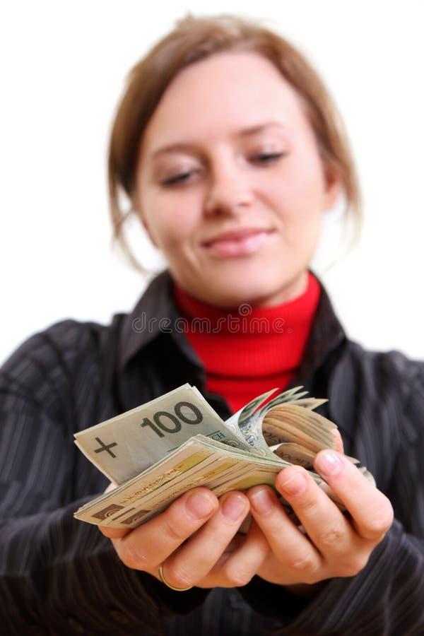 δόσιμο των χρημάτων στοκ φωτογραφίες