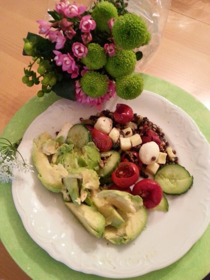 Δύναμη γεύματος και λουλουδιών διατροφής στοκ εικόνες