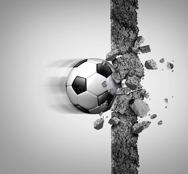 Δύναμη ποδοσφαίρου απεικόνιση αποθεμάτων