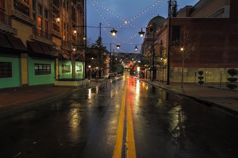 Δύναμη πόλεων του Κάνσας & ελαφριά περιοχή στοκ φωτογραφία με δικαίωμα ελεύθερης χρήσης