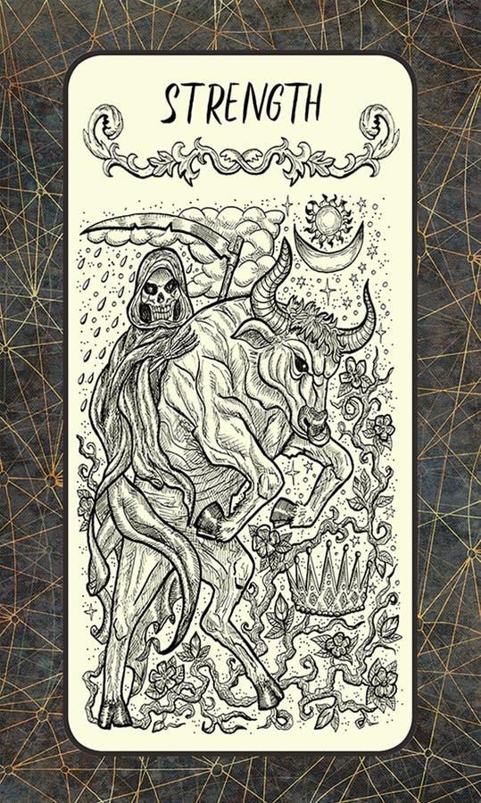 δύναμη Σημαντική κάρτα Arcana Tarot ελεύθερη απεικόνιση δικαιώματος