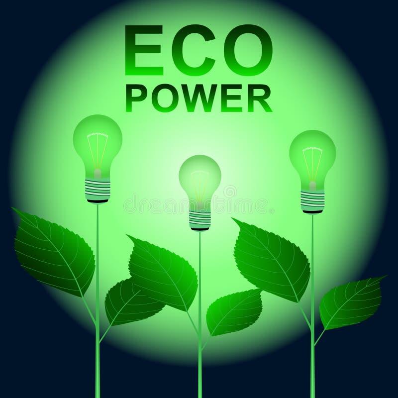 Δύναμη Eco, νεαροί βλαστοί διανυσματική απεικόνιση