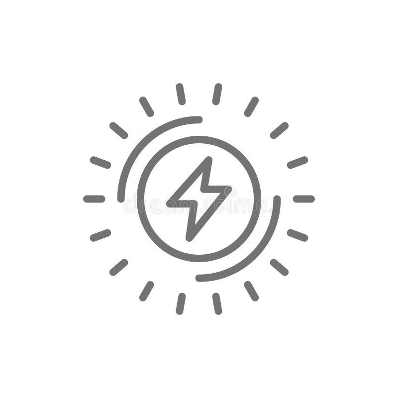 Δύναμη Eelectric, εικονίδιο γραμμών ηλεκτρικής ενέργειας o απεικόνιση αποθεμάτων