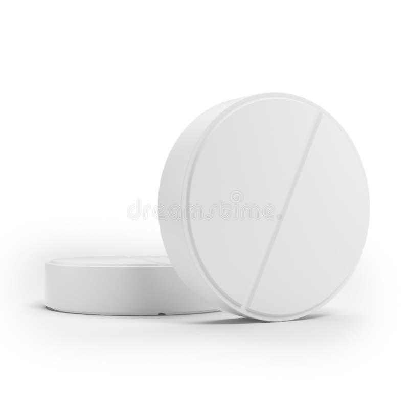 Δύο άσπρα ιατρικά χάπια απεικόνιση αποθεμάτων