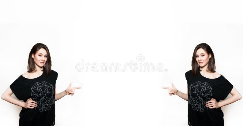 Δύο ίδια κορίτσια στοκ φωτογραφίες με δικαίωμα ελεύθερης χρήσης