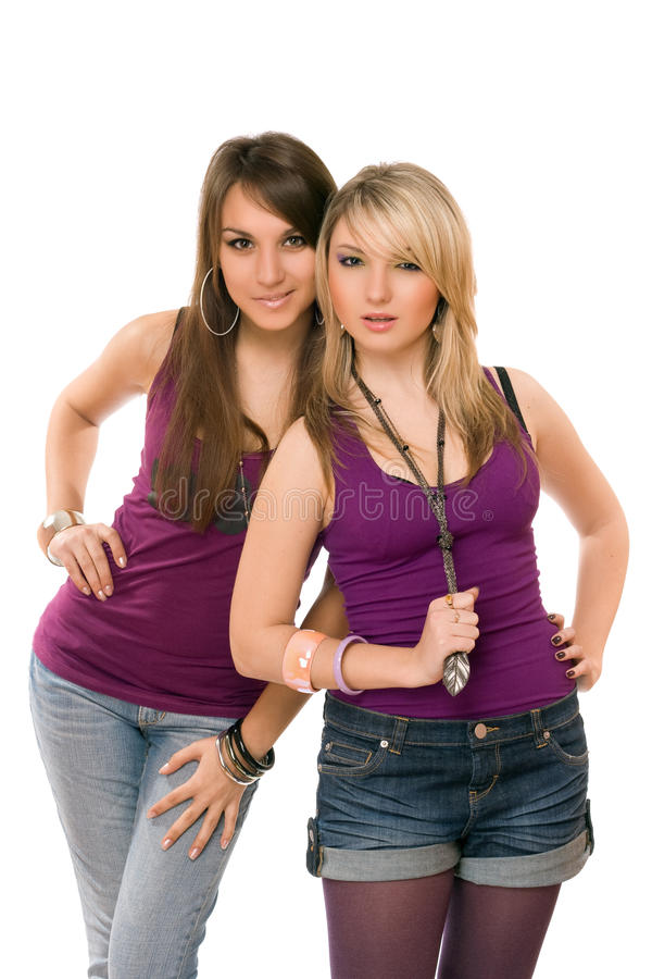 Δύο αρκετά νέες κυρίες στοκ φωτογραφίες με δικαίωμα ελεύθερης χρήσης