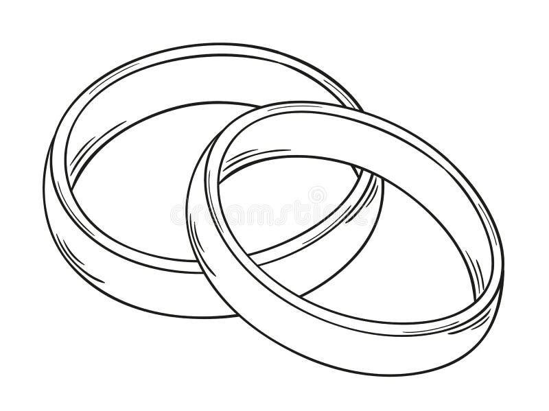 Δύο δαχτυλίδια διανυσματική απεικόνιση