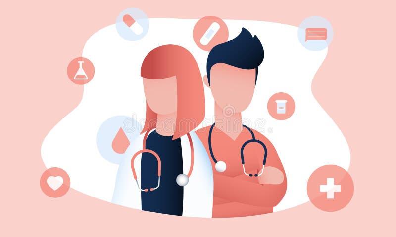 Δύο γιατροί είναι έτοιμοι να δώσουν την ιατρική υποστήριξη απεικόνιση αποθεμάτων