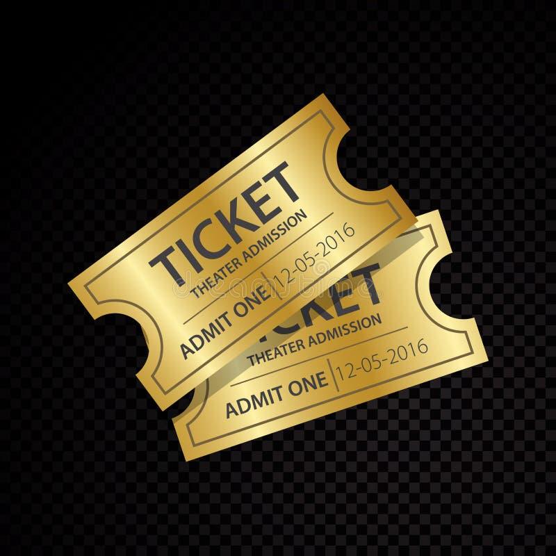 Δύο διανυσματικά εισιτήρια και πρότυπα δελτίων ελεύθερη απεικόνιση δικαιώματος