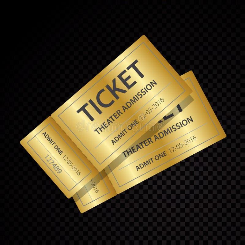 Δύο διανυσματικά εισιτήρια και πρότυπα δελτίων διανυσματική απεικόνιση