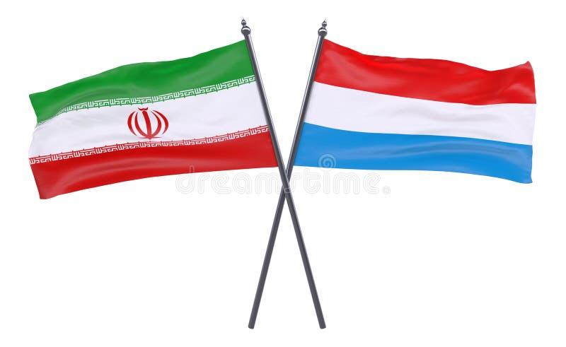 Δύο διασχισμένες σημαίες ελεύθερη απεικόνιση δικαιώματος