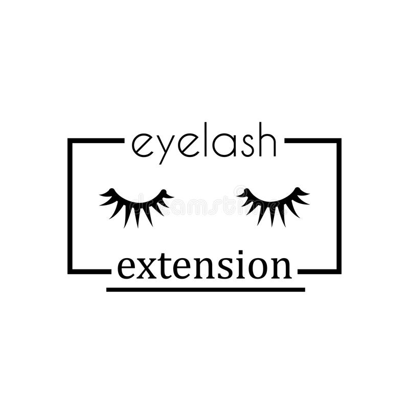 Δύο επεκτάσεις eyelash ελεύθερη απεικόνιση δικαιώματος