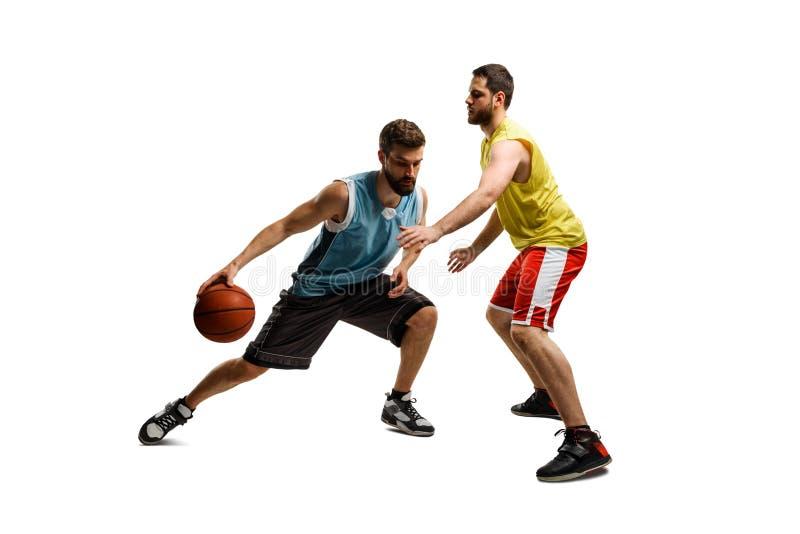 Δύο ευκίνητα παίχτης μπάσκετ στοκ εικόνες