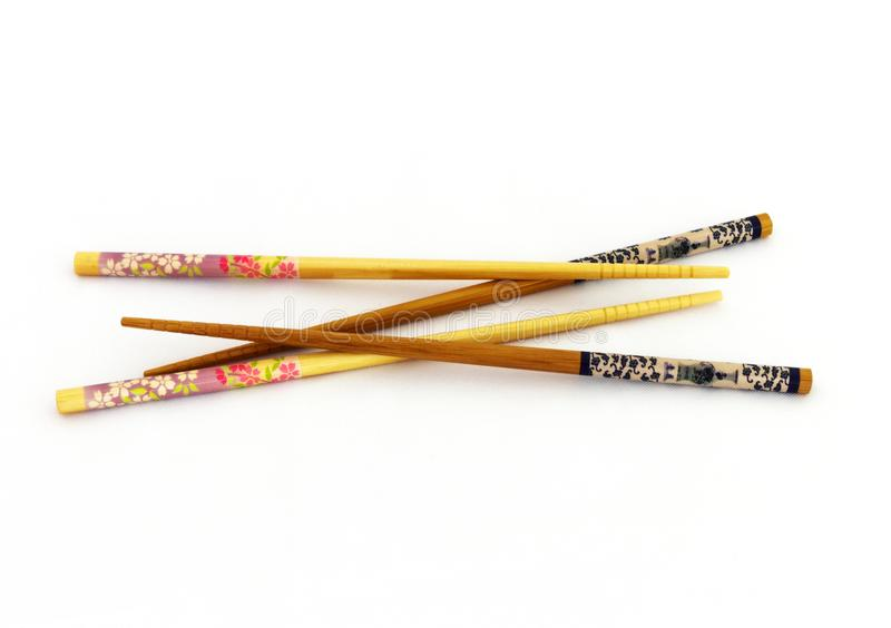 Δύο ζευγάρια ασιατικά chopsticks από κοινού στοκ εικόνες με δικαίωμα ελεύθερης χρήσης