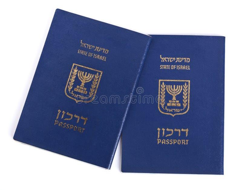 Απομονωμένα ισραηλινά διαβατήρια στοκ εικόνα