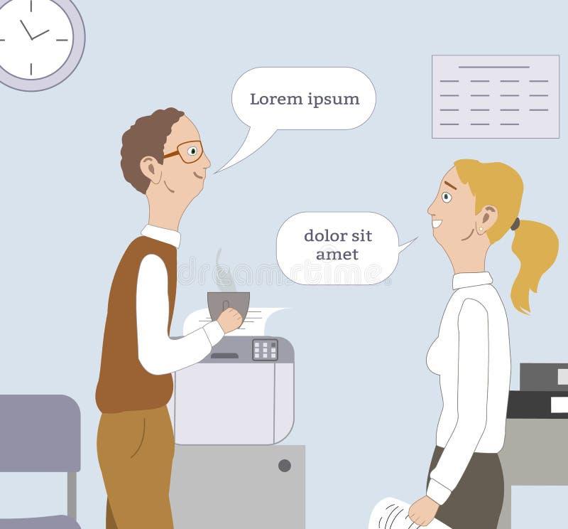 Δύο καλύτεροι φίλοι λένε στην εργασία διανυσματική απεικόνιση