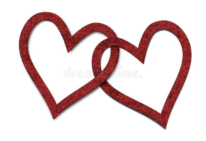 Δύο καρδιές στοκ εικόνες