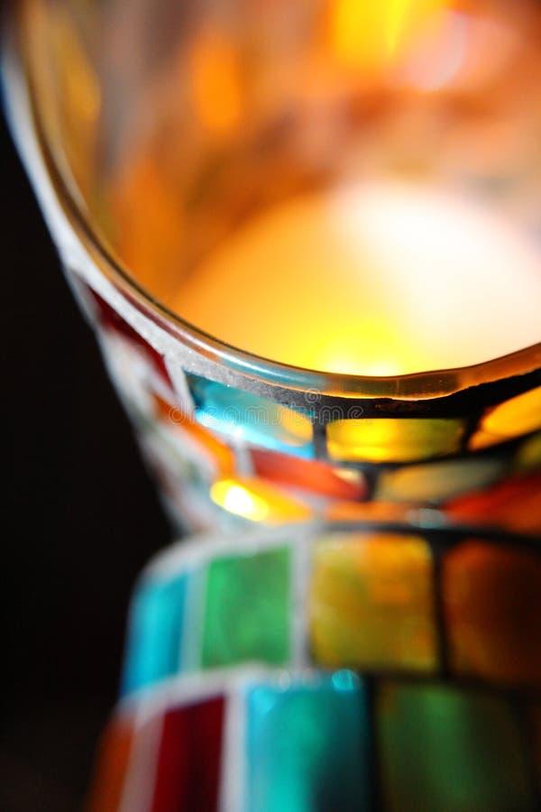 Δύο κεριά μωσαϊκών στοκ φωτογραφία με δικαίωμα ελεύθερης χρήσης