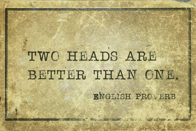 Δύο κεφάλια EnP στοκ εικόνα