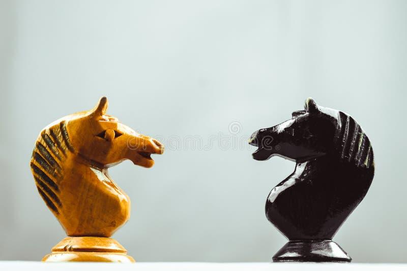Δύο κομμάτια σκακιού αλόγων στοκ φωτογραφίες