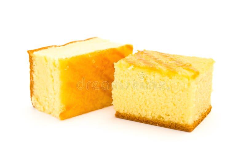 Δύο κομμάτια των κέικ σφουγγαριών στοκ εικόνα