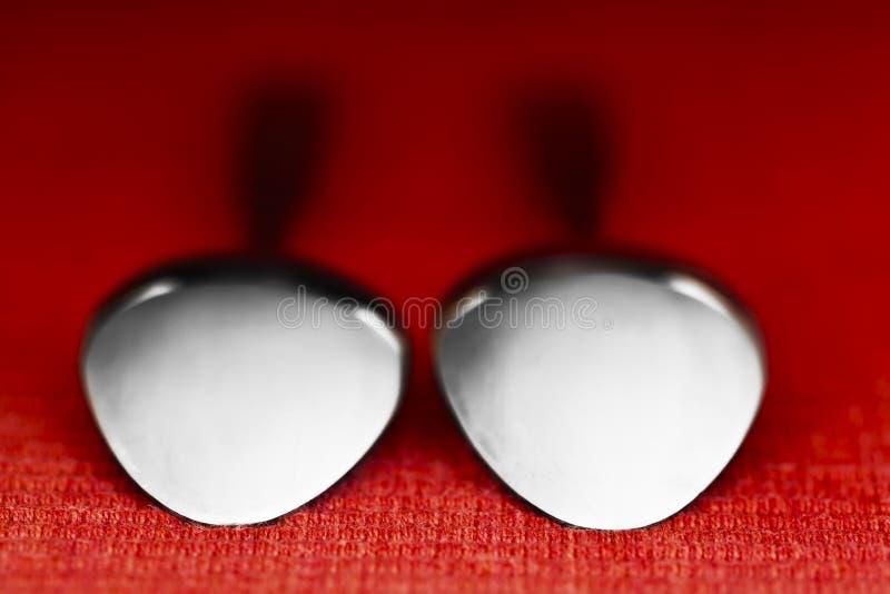 Δύο κουτάλια στοκ φωτογραφία