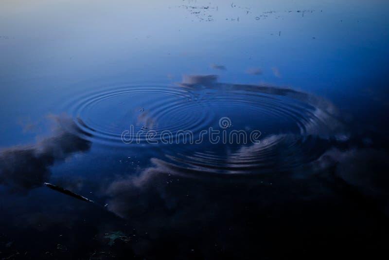 Δύο κυματισμοί σε μια λίμνη μπλε ουρανού στοκ φωτογραφίες με δικαίωμα ελεύθερης χρήσης
