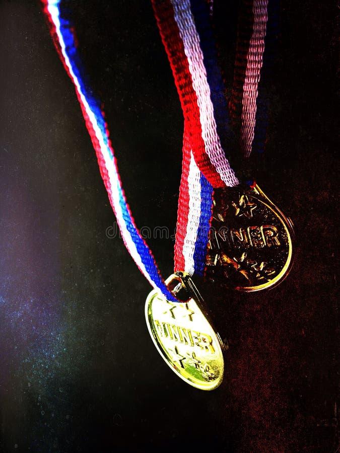 Δύο μετάλλια νικητών στοκ φωτογραφία με δικαίωμα ελεύθερης χρήσης