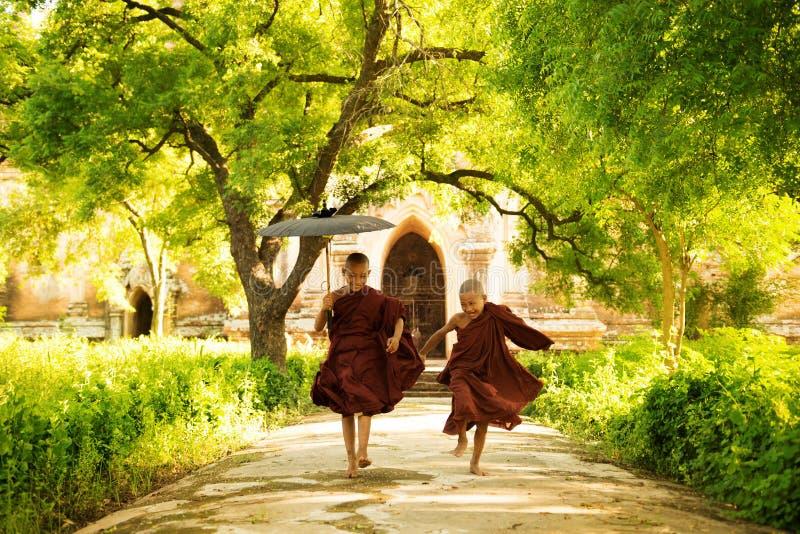 Δύο μικροί μοναχοί στοκ φωτογραφίες