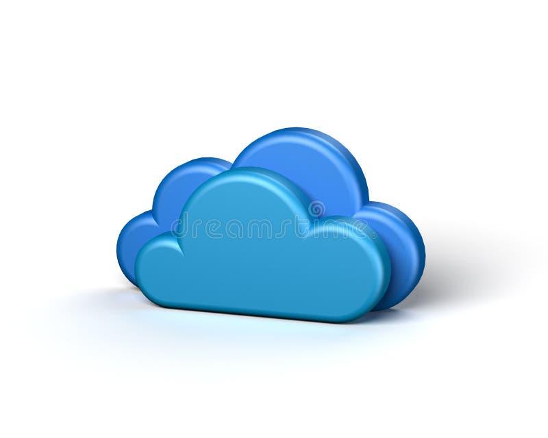 Δύο μπλε αφηρημένα σύννεφα στην άσπρη ανασκόπηση ελεύθερη απεικόνιση δικαιώματος