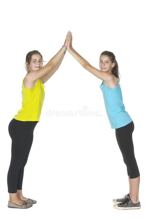 Δύο νέες γυναίκες αθλητών στοκ φωτογραφίες