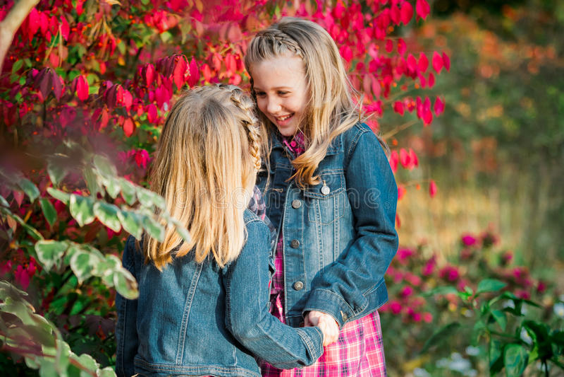 Δύο νέες καυκάσιες αδελφές στοκ φωτογραφία