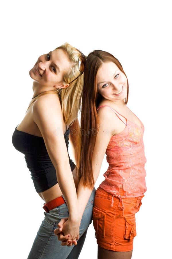δύο νεολαίες γυναικών στοκ εικόνες με δικαίωμα ελεύθερης χρήσης