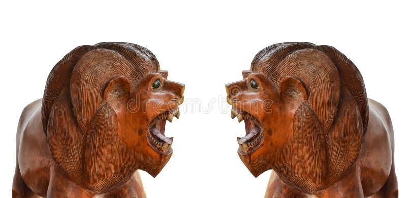 Δύο ξύλινες τίγρες στοκ φωτογραφία με δικαίωμα ελεύθερης χρήσης