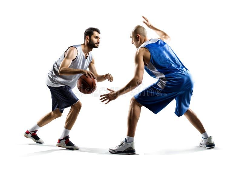Δύο παίχτης μπάσκετ στη δράση στοκ φωτογραφίες