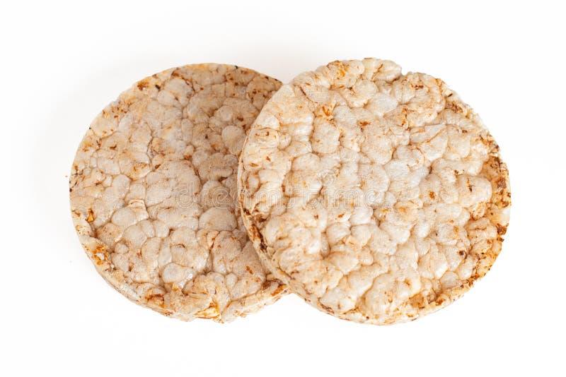 Δύο παξιμάδια σιταριού που απομονώνονται στο άσπρο υπόβαθρο στοκ εικόνα με δικαίωμα ελεύθερης χρήσης
