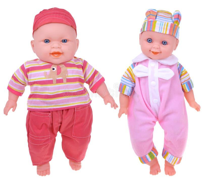 Δύο παράξενες φρικτές κούκλες μωρών στοκ εικόνες με δικαίωμα ελεύθερης χρήσης