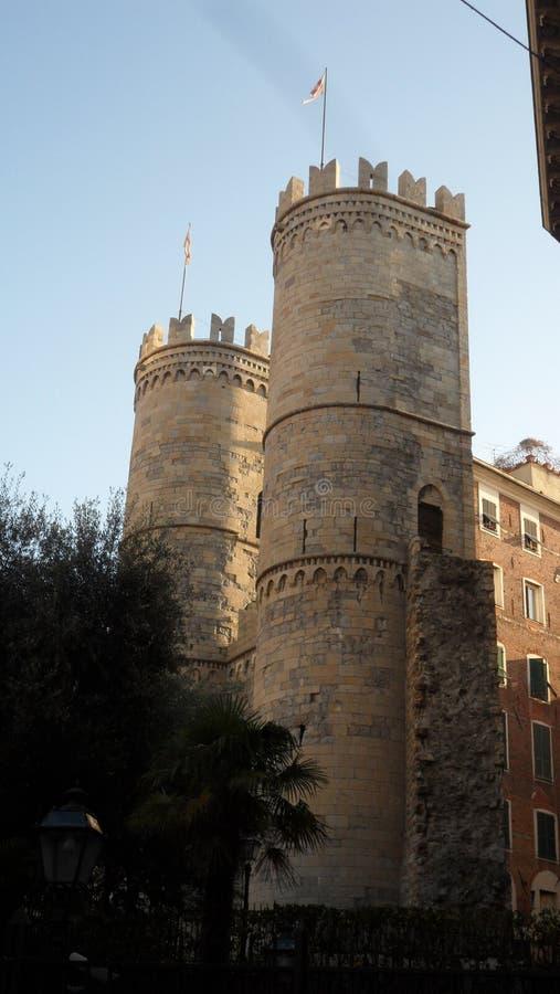 Δύο πύργοι, `` το Porta Soprana `` της Γένοβας στοκ φωτογραφίες