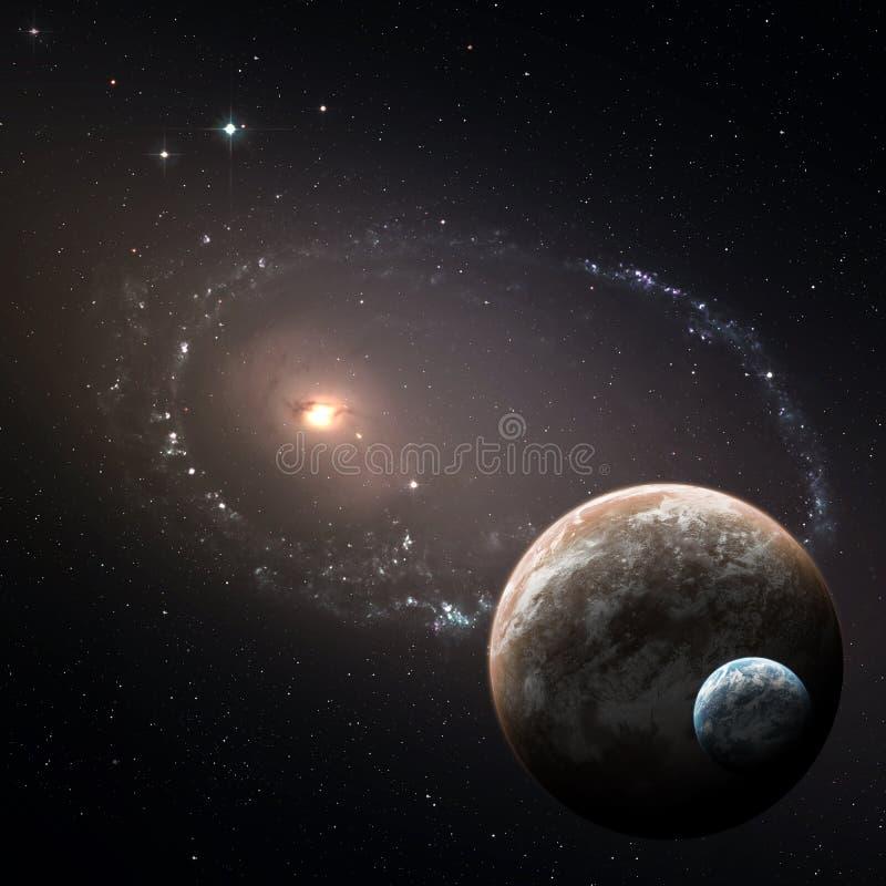 Δύο πλανήτες στο βαθύ διάστημα στοκ φωτογραφία με δικαίωμα ελεύθερης χρήσης