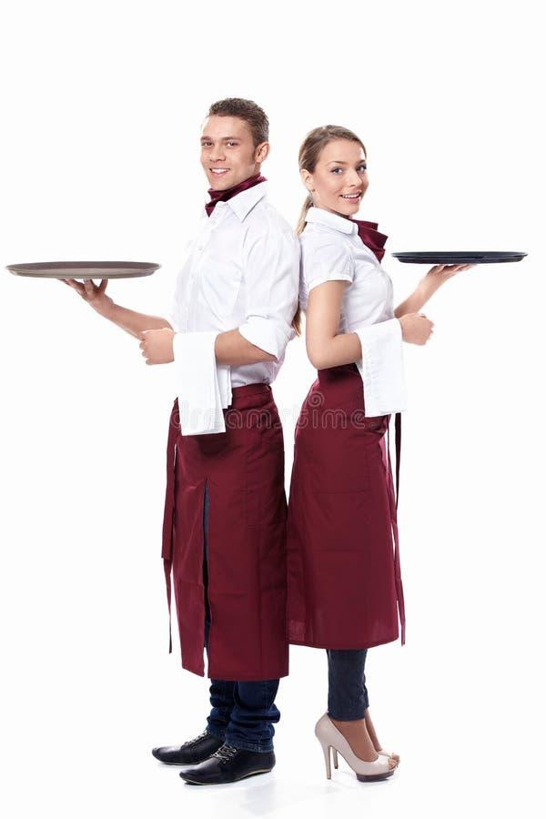 Δύο σερβιτόροι στοκ εικόνα