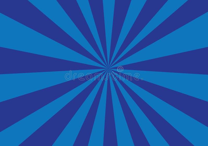 Δύο σκιασμένες μπλε ακτίνες απεικόνιση αποθεμάτων
