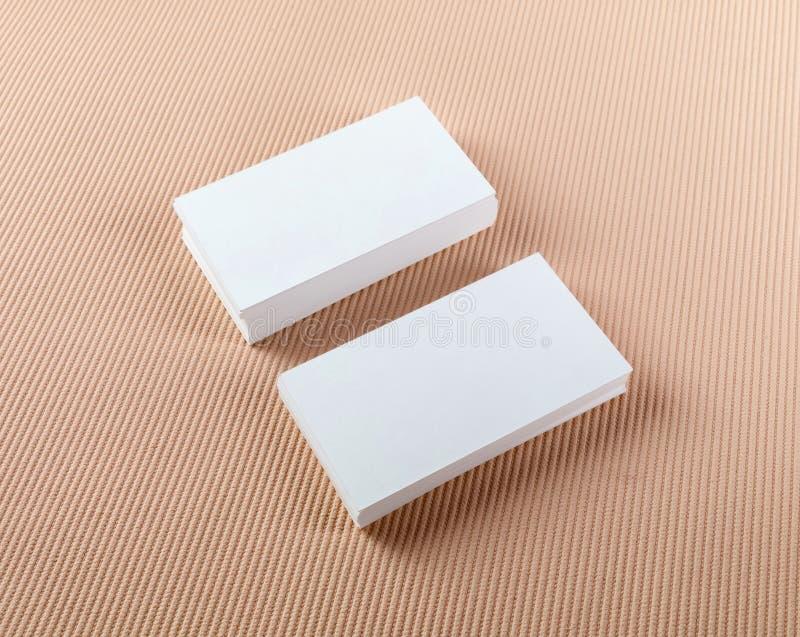 Δύο σωροί των επαγγελματικών καρτών στοκ φωτογραφία με δικαίωμα ελεύθερης χρήσης