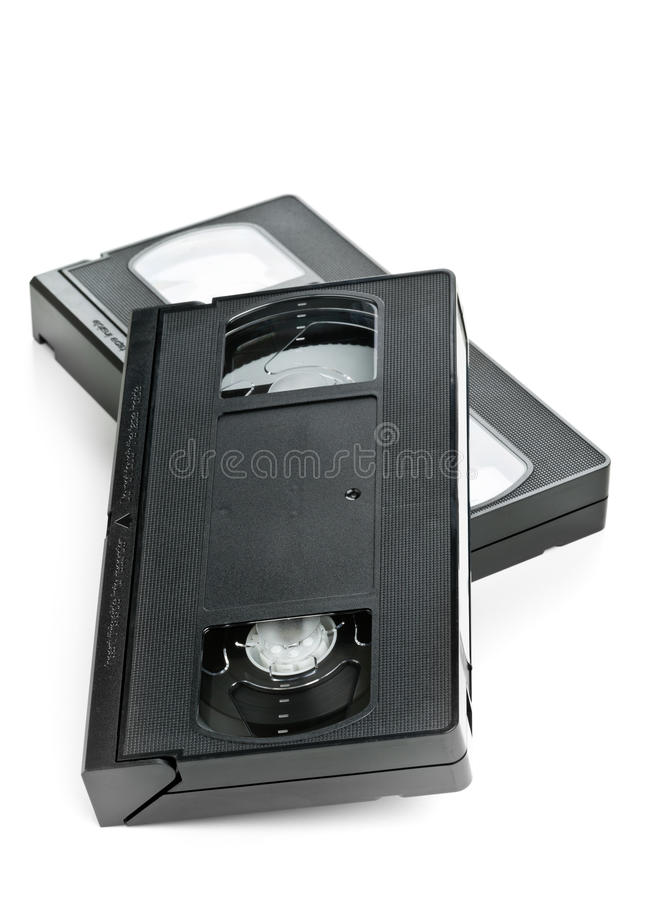 Δύο τηλεοπτικές κασέτες κινηματογράφων εγχώριων συστημάτων στοκ εικόνα με δικαίωμα ελεύθερης χρήσης
