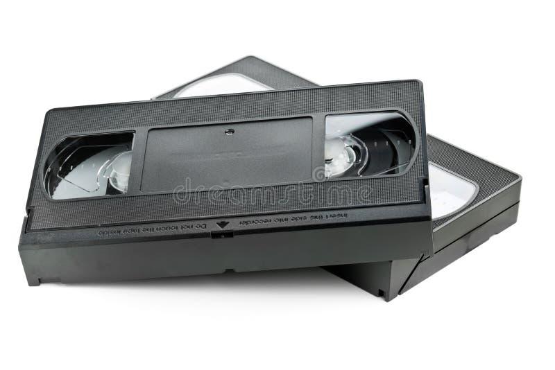 Δύο τηλεοπτικές κασέτες κινηματογράφων εγχώριων συστημάτων στοκ φωτογραφίες