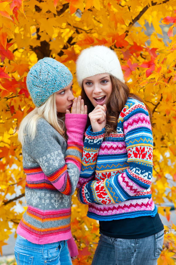 Δύο φίλοι γυναικών εφήβων στοκ εικόνες