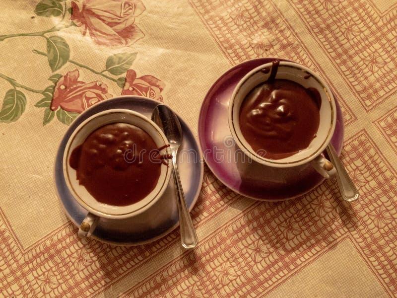 Δύο φλυτζάνι της καυτής σοκολάτας στοκ φωτογραφία