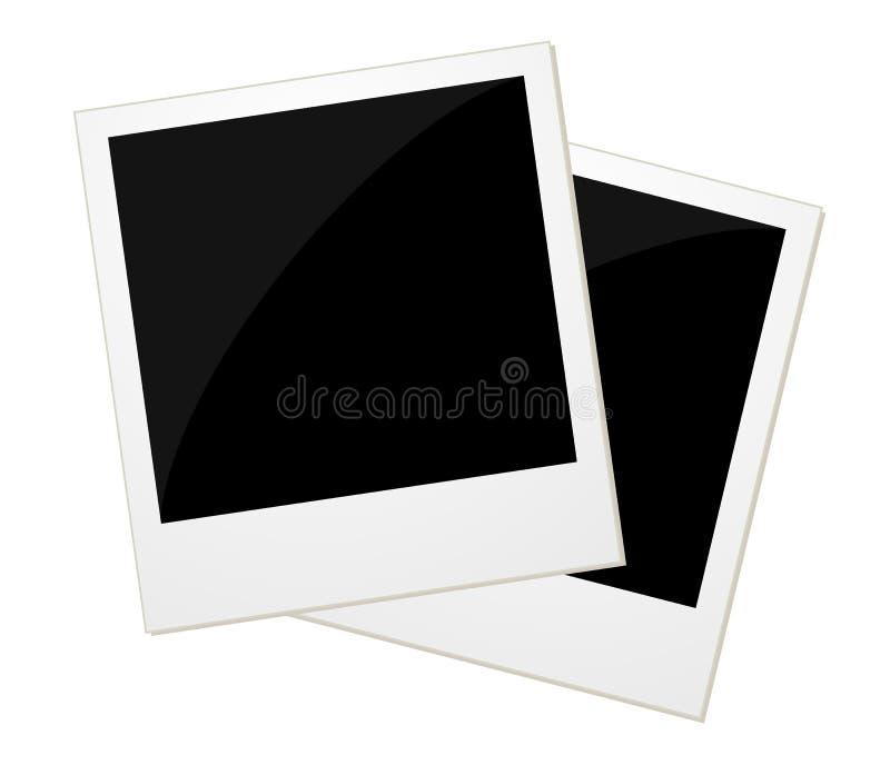 Δύο φωτογραφίες polaroid ελεύθερη απεικόνιση δικαιώματος