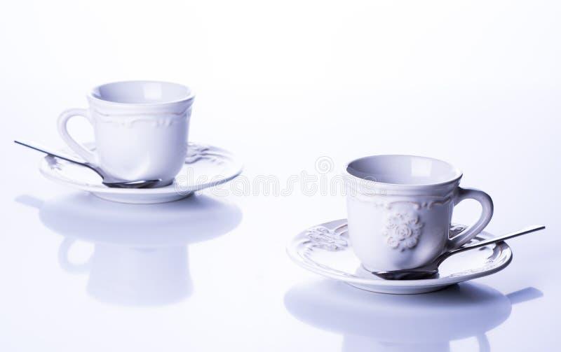 Δύο φλυτζάνια για το τσάι στοκ φωτογραφίες με δικαίωμα ελεύθερης χρήσης